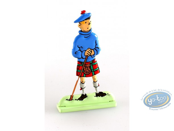 Figurine métal, Tintin : Tintin dans L'île noire (bas relief)