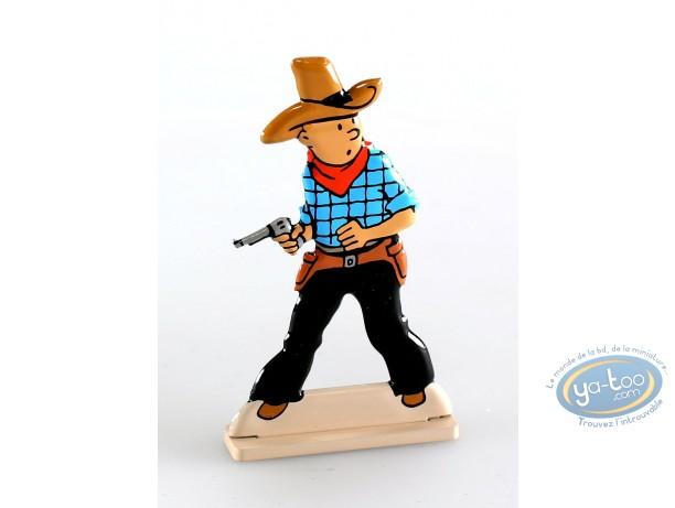 Figurine métal, Tintin : Tintin en Amérique (bas relief)