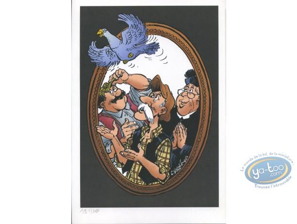 Ex-libris Offset, Vieux Bleu (Le) : Le Vieux bleu ; pigeon