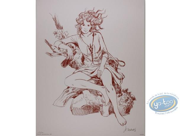 Affiche Offset, Tendre Violette : Sanguine
