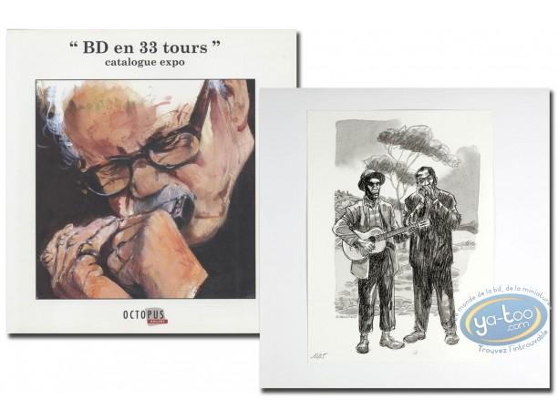 Livre, BD en 33 Tours : BD en 33 tours + ex-libris Dany + ex-libris Van Linthout aquarellé