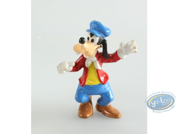 Figurine plastique, Mickey Mouse : Dingo chauffeur, Disney