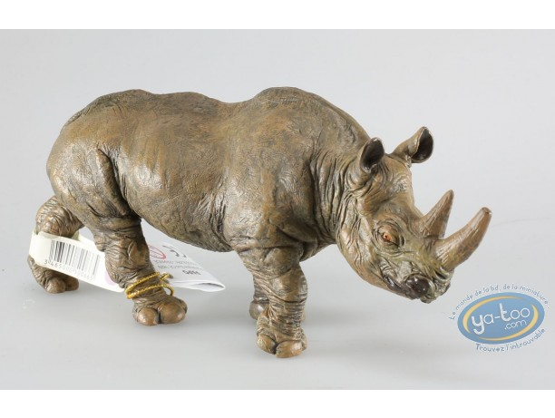 Figurine plastique, Animaux : Rhinoceros