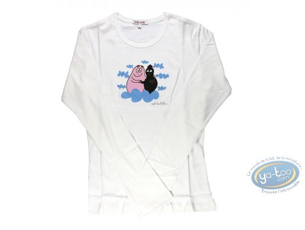 Vêtement, Barbapapa : T-shirt manches longues blanc Barbapapa: taille M, papa et maman