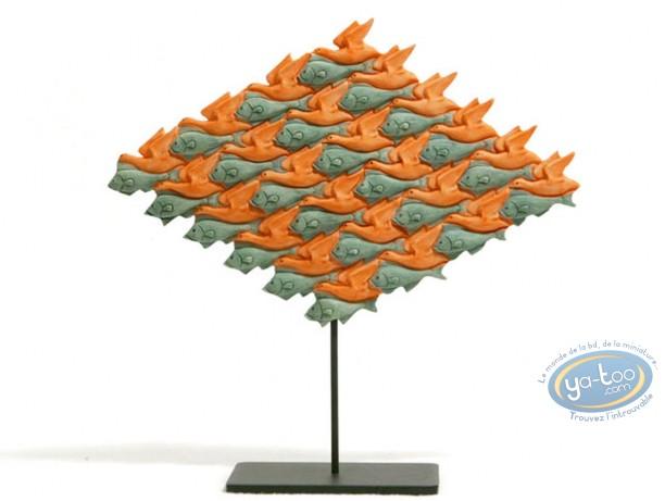 Statuette résine, Tableaux en 3D : Oiseau-Poisson
