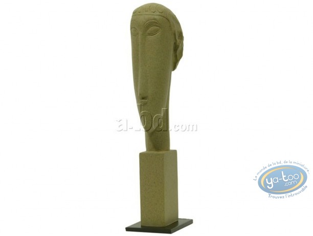 Statuette résine, Tableaux en 3D : Modigliani - Tête