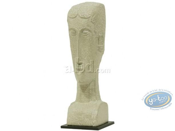 Statuette résine, Tableaux en 3D : Modigliani - Tête d'une femme