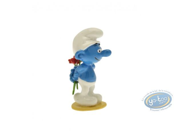 Figurine métal, Schtroumpfs (Les) : Origine : Schtroumpf aux fleurs, Pixi