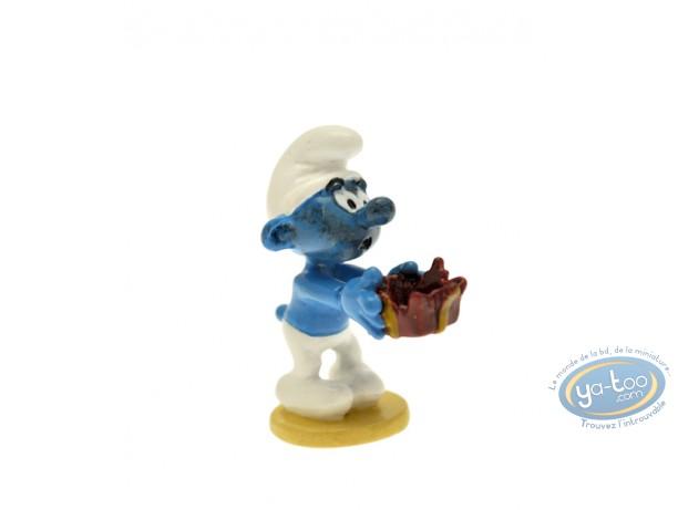 Figurine métal, Schtroumpfs (Les) : Origine : Schtroumpf au cadeau piégé, Pixi
