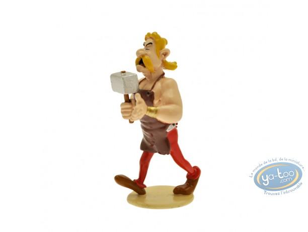 Figurine métal, Astérix : Origine : Cétautomatix forgeron, Pixi