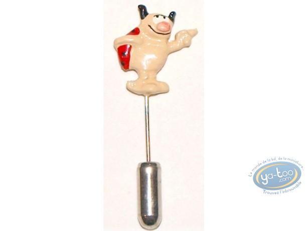 Figurine métal, Rubrique à Brac : Epinglette, Coccinelle moqueuse, Pixi