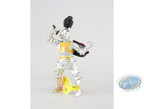 Figurine plastique, Chevalier à l'épée, pourpoint jaune
