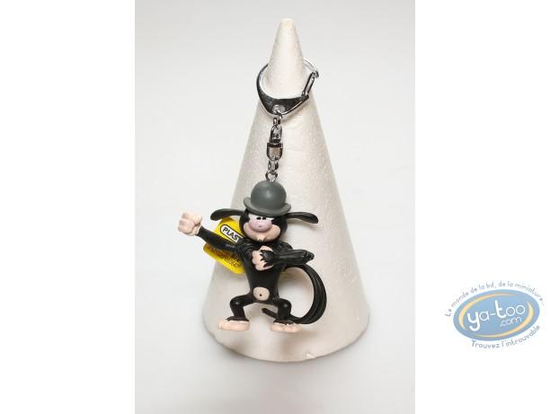 Porte-clé PVC, Marsupilami (Le) : Marsupilami noir avec chapeau
