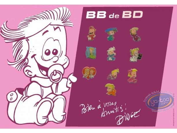 Pin's, BB de BD : Plaque de 10 pin's