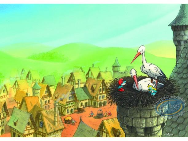 Affiche Offset, Schtroumpfs (Les) : Cigognes