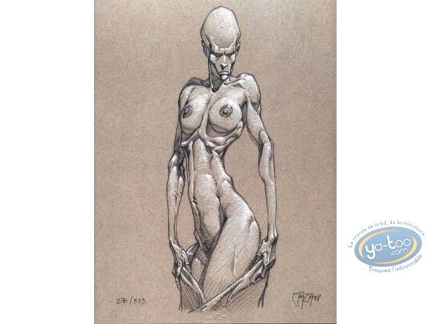 Ex-libris Offset, Age d'Ombre (L') : Femme se déshabillant