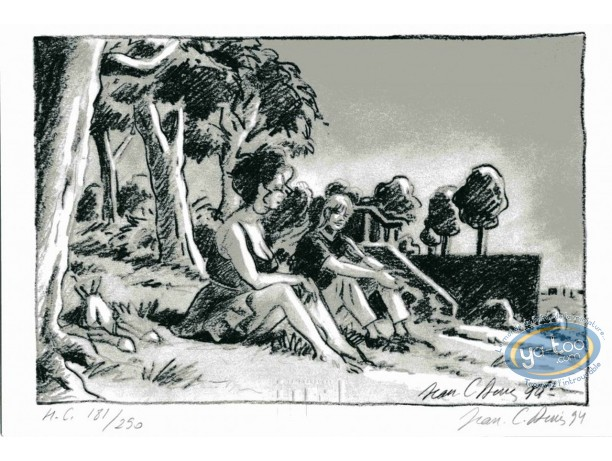 Ex-libris Offset, Pélican (Le) : Assis dans l'herbe