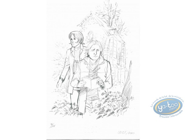 Ex-libris Offset, I.N.R.I. : Couple (crayonné)