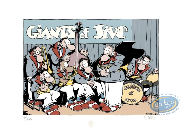 Affiche Sérigraphie, Harry Mickson : Giants of Jive