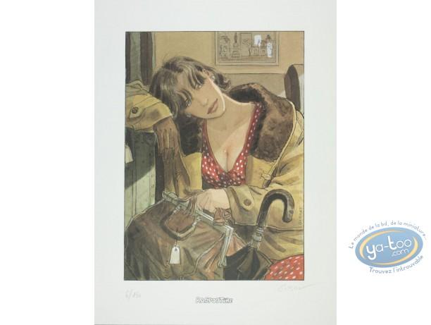 Affiche Offset, Sursis (Le) : Cécile avec sa sacoche