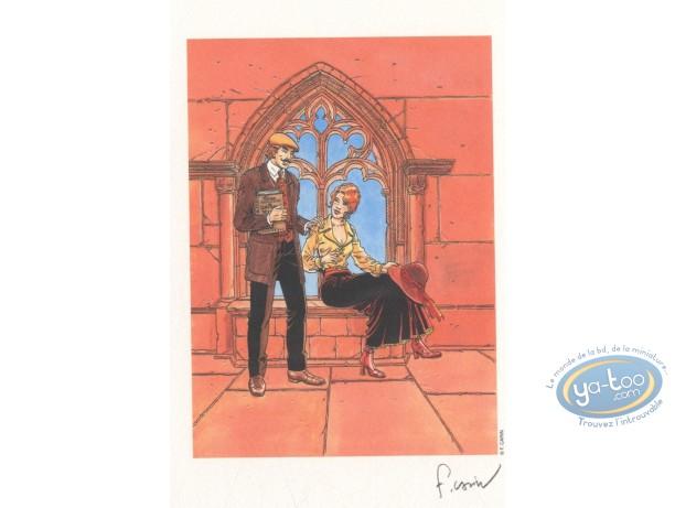 Ex-libris Offset, Victor Sackville : Dans l'abbaye