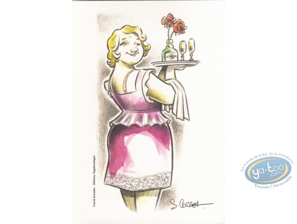 Ex-libris Offset, Fanch Karadec : Femme
