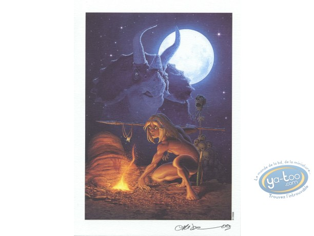 Ex-libris Offset, Atalante : Rahan - hommage (Crisse)