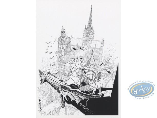 Ex-libris Offset, Septentryon : La cathédrale n&b