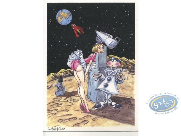 Ex-libris Offset, Tintin : De la Lune à la Terre