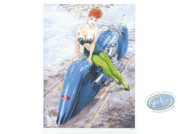 Ex-libris Offset, Sire : Sire femme à moto