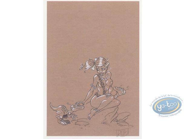 Ex-libris Offset, Arcanes du Midi-Minuit (Les) : Fille & dinosaures