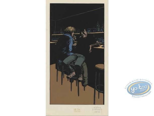 Ex-libris Sérigraphie, Nuit Noire : Au bar