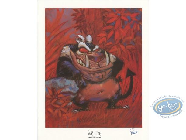 Ex-libris Offset, Toto l'Ornithorynque : Diable de Tasmanie