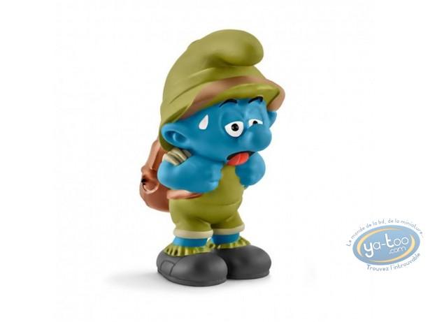 Figurine plastique, Schtroumpfs (Les) : Schtroumpf explorateur tirant la langue
