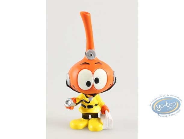 Figurine plastique, Snorkies (Les) : Jojo' Snorkie orange, joue au docteur