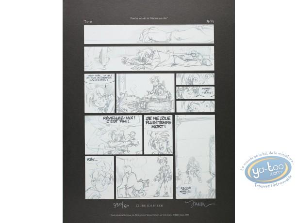 Affiche Offset, Spirou et Fantasio : Machine qui rêve (planche)