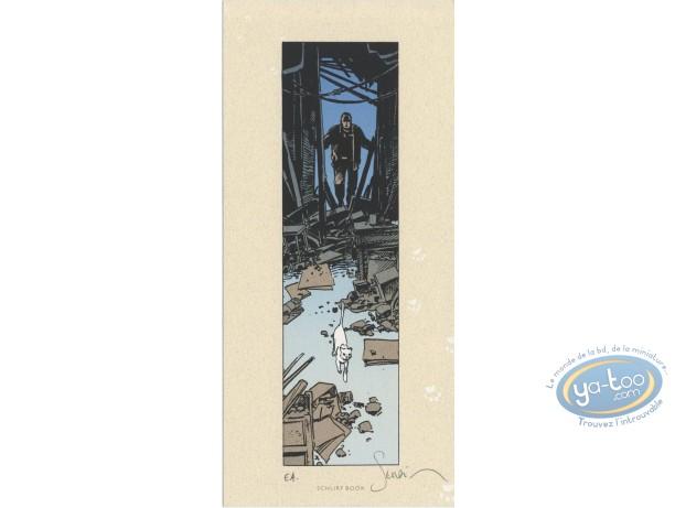 Ex-libris Sérigraphie, Esprit de Warren (L') : Chat blanc