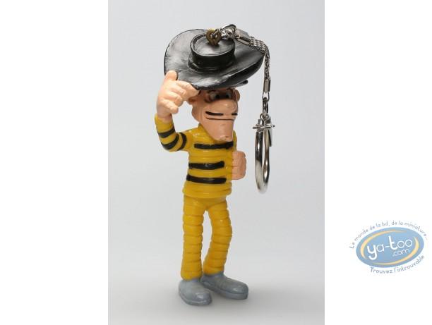 Figurine plastique, Lucky Luke : Porte-clé Avrell Dalton saluant