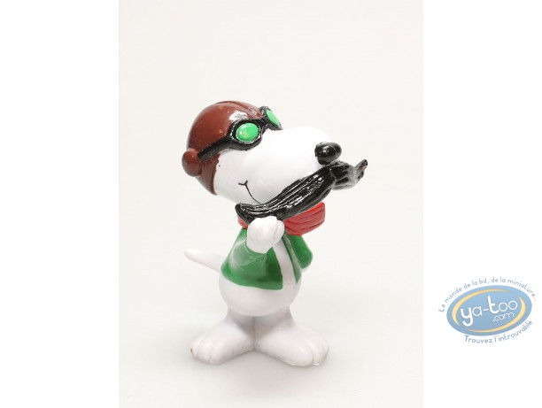 Figurine plastique, Snoopy : Snoopy aviateur (couleur)