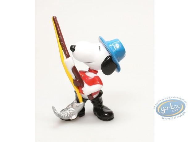 Figurine plastique, Snoopy : Snoopy pêcheur