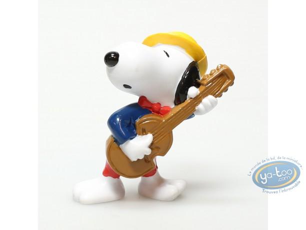 Figurine plastique, Snoopy : Snoopy joueur de guitare