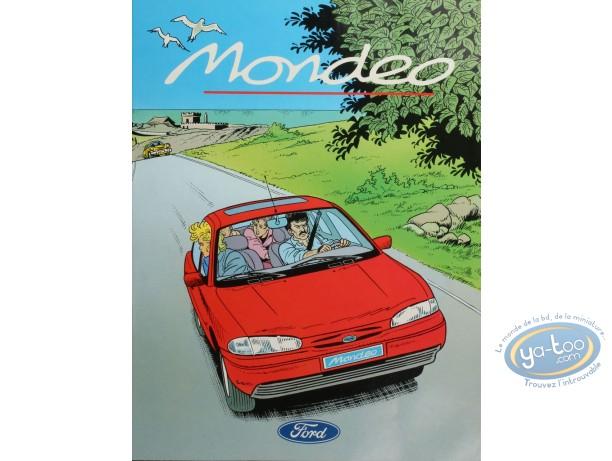 BD neuve, BD publicitaire, la Ford Mondéo