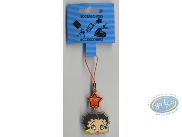Accessoire GSM, Betty Boop : Pendentif GSM PVC : Betty Boop