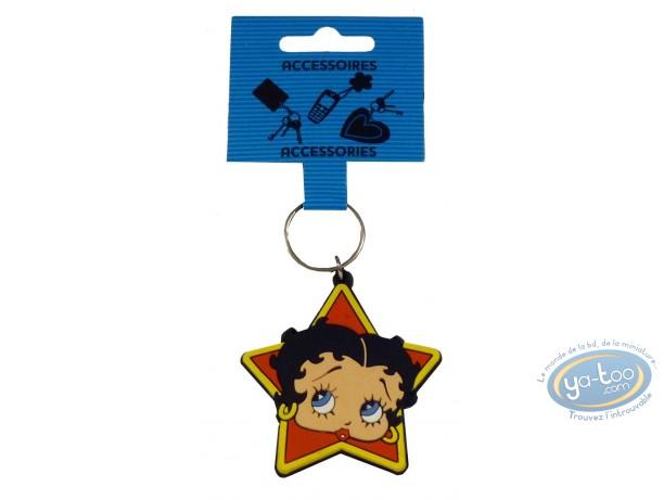 Porte-clé PVC, Betty Boop : Betty Boop 'Star'