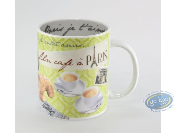 Art de la Table, Paris : Mug classique : Un café à Paris vert anis