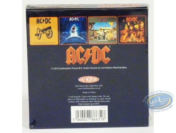 Art de la Table, AC / DC : Set de sous-verres, AC/DC