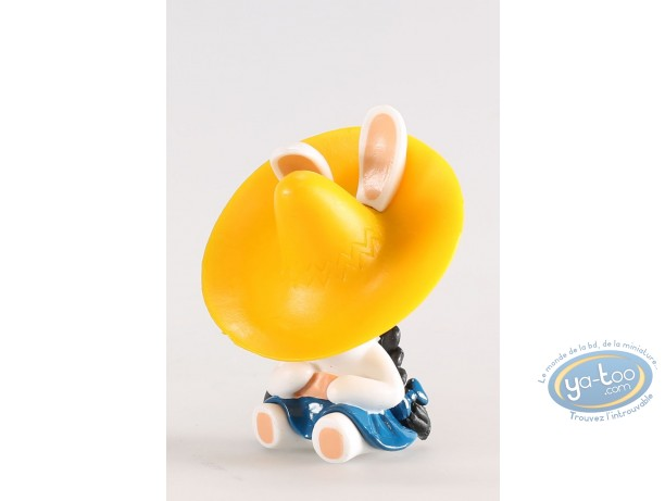 Figurine plastique, Lapins Crétins (Les) : Mexique (sieste chapeau jaune)