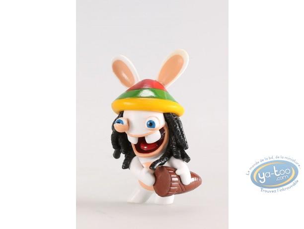Figurine plastique, Lapins Crétins (Les) : Jamaïque (djembé)