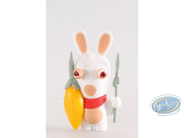 Figurine plastique, Lapins Crétins (Les) : Afrique du Sud (Lance et bouclier)