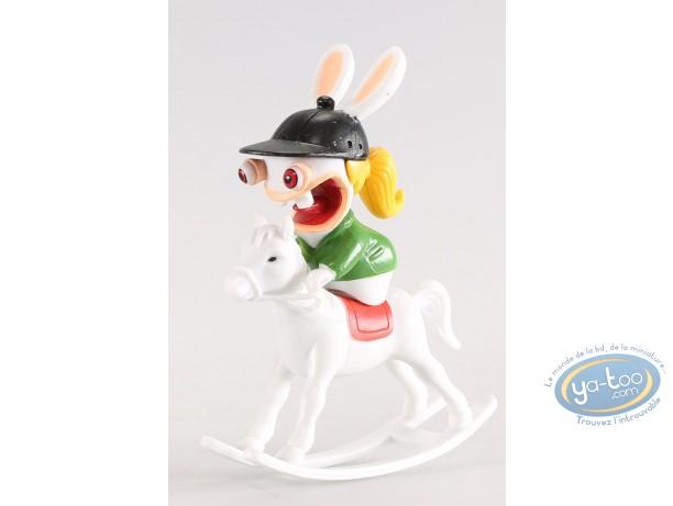 Figurine plastique, Lapins Crétins (Les) : Equitation (cavalière)